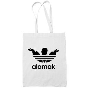 alamak cotton white tote bag carrier shoulder ladies shoulder shopping grocery bag kaobeiking