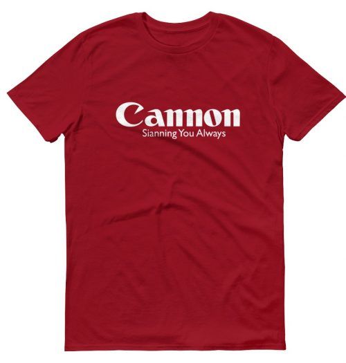 cannon red casualwear womens tshirt design clothing