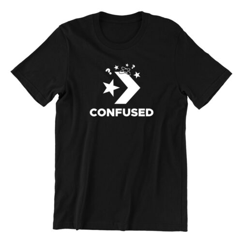 confused-black-crew-neck-unisex-tshirt-singapore-brand-parody-vinyl-streetwear-apparel-designer