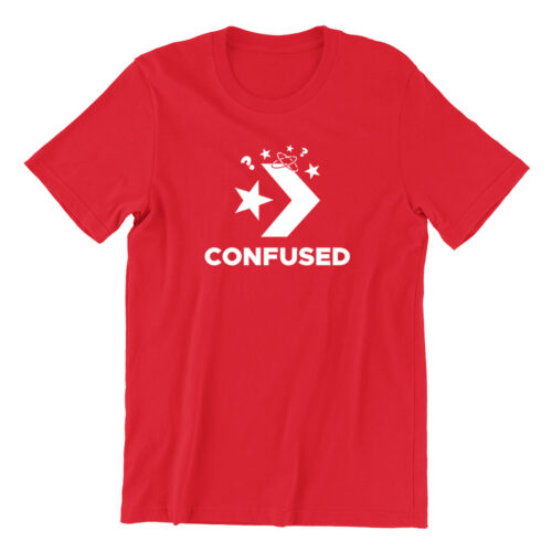 confused-red-casualwear-womens-t-shirt-design-kaobeiking-singapore-funny-clothing-online-shop