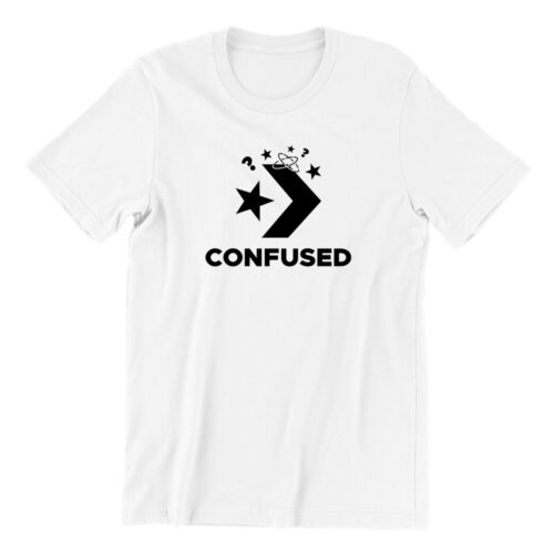 confused-white-short-sleeve-mens-teeshirt-singapore-kaobeiking-creative-print-fashion-store