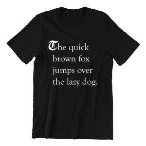 the quick brown fox black casualwear mens funny singapore t shirt