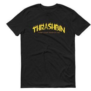 thrashbin black mens tshirt singapore parody vinyl streetwear