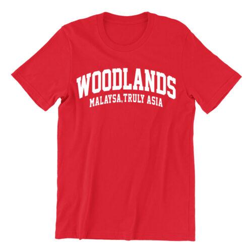 woodlands-red-crew-neck-women-tshirt-singapore-funny-singlish-hokkien-clothing-label