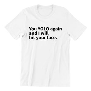 yolo white short sleeve mens teeshrt singapore funny hokkien vinyl streetwear